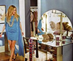 Carrie's mirrored vanity (as shown in Traditional Home, July 2008) #Repin By:Pinterest++ for iPad#