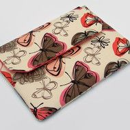 Ipad Mini Sleeve Butterflies Cream