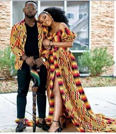 Pin by ann la on couples african fashion in 2019 одежда, жен African Wedding Attire, African Attire, African Wear, African Dress, Ghana Wedding Dress, African Print Wedding Dress, African Women, Couples African Outfits, Couple Outfits