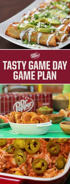 From salty to sweet, apps to entrees, these Dr Pepper-infused recipes have your spread covered. In Partnership with Tasty. I Love Food, Good Food, Yummy Food, Tasty, Tailgating Recipes, Tailgate Food, Appetizers For Party, Appetizer Recipes, Dr Pepper