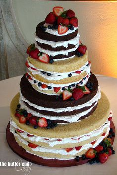 naked cake. icing is my least favorite part