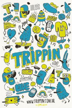 Trippin` Store bags by Bosque , via Behance