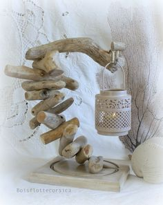 Etsy - Shop for handmade, vintage, custom, and unique gifts for everyone Driftwood Furniture, Driftwood Lamp, Driftwood Projects, Driftwood Ideas, Rustic Lanterns, Lanterns Decor, Cabin Crafts, Empty Wine Bottles, Candle In The Wind