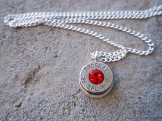 Bullet Necklace Red by Sarahsjewelrydesigns on Etsy, $20.00