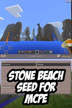 Stone beach spawn for MCPE - Seed:finhug - For Minecraft PE and Minecraft Pe Seeds, Easy Minecraft Houses, Amazing Minecraft, Minecraft Creations, Minecraft Designs, Minecraft Stuff, Minecraft Ideas, Mcpe Seeds, Minecraft Marvel