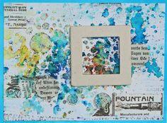 Mixed Media Cards mit Glass Bead Gel - Für diese Mixed-Media-Karten sind Brusho-Farben, Tissue Tape u. m. zum Einsatz gekommen. Schau es Dir an!
