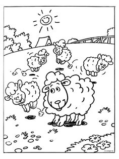 Happy Spring Coloring Pages Awesome Spring Coloring Pages to Avoid the Start Of the Spring Cleaning Farm Animal Coloring Pages, Spring Coloring Pages, Colouring Pages, Coloring Pages For Kids, Coloring Books, Baby Drawing, Drawing For Kids, Baby Farm Animals, Princess Coloring Pages