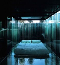 Glass Pavilion at Superlative Hotel & Restaurant Les Cols headed by Fina Puigdeval in Olot, Catalan Pyrenees, Spain by RCR Architects