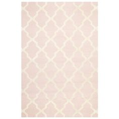 Cambridge Light Pink & Ivory Tufted Wool Rug