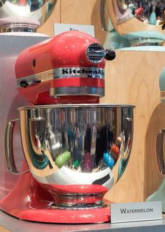 "O.m.g.  Want the ubiquitous KitchenAid mixer in this new color - Watermelon! (being sold as ""flamingo"" at Target...)"