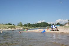 Ludington State Park, where the tubing river meets Lake Michigan - beautiful Lake Michigan Beaches, Michigan Vacations, Dream Vacations, Ludington Michigan, Ludington State Park, Beach Town, Outdoor Camping, State Parks, Places To Visit