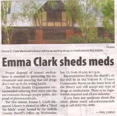 "Thanks to the Village Times Herald for helping spread the word about our ""Shed the Meds"" event next week!"