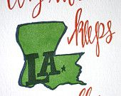 Louisiana Letterpress Print and other states, would make a great framed collection!