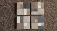 4 set tile mosaic coasters