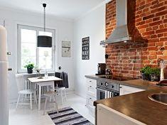 Une cuisine avec pierres apparentes! Voici 69 idées déco…