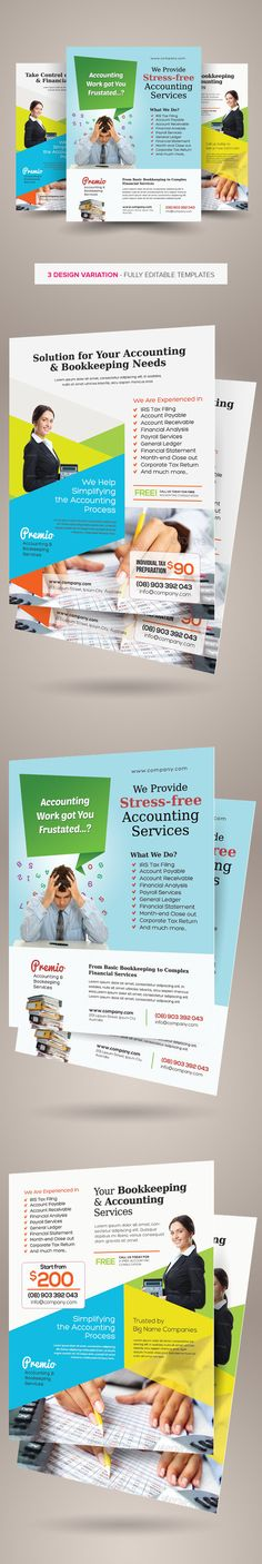 Accounting And Finance Flyers Bundle Accounting Finance And Flyers