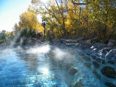 Cottonwood Springs, Near Buena Vista Colorado. Enjoy the pool until midnight and soak in the hot springs under the stars.