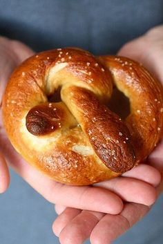 Homemade Soft Pretzels -- I've always wondered why the pretzels are put in boiling water before baking....any ideas?