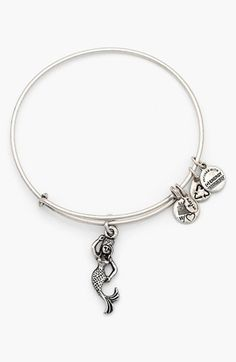 Alex and Ani 'Mermaid' Charm Expandable Bangle available at #Nordstrom.... Oh, damn. I'm in trouble with these things. I want this for my birthday