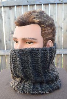 Crochet Cowl Dreadlock Tube Cowl Scarf Men's cowl by 4TheLuvOfYarn
