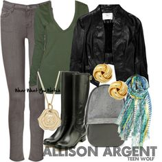 Inspired by character Allison Argent from MTV's Teen Wolf played by Crystal Reed.