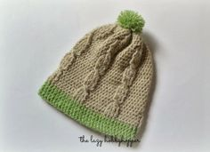 The Lazy Hobbyhopper: Crochet cable stitch hat - free pattern