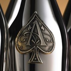 Armand de Brignac bottle has its roots in the French fashion industry and its reputation for opulence. Originally conceived by the celebrated André Courrèges fashion house, the striking bottle is decorated at a single site in France's Cognac region and is fitted with four pewter labels that are hand-applied to the surface of the bottle.