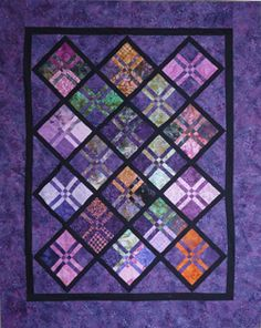 Disappearing 4-Patch - Oklahoma Quiltworks Classes - Not sure how to make this but I like it for batiks