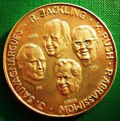 Germany Large Medal 49.7 gr 50 mm Silver 1000 er 1971 GBR USA FR USSR Berlin