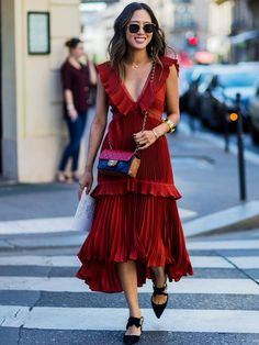 Night-Out Outfit #2: A Ruffled Dress Goes a Long Way