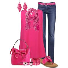 """""""Cool Spring Pink"""" by maggie478 on Polyvore"""