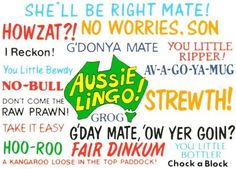 Arriving into Australia with little knowledge of Australian slang may get you into a few awkward situations. So read our Aussie slang guide with video Australian Party, Australian English, Australian Authors, Australia Day, Australia Travel, Australia Funny, Visit Australia, Melbourne Australia, Western Australia