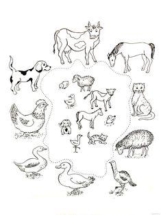 Zvířata a jejich mláďata Farm Activities, Preschool Themes, Preschool Worksheets, Educational Activities, Farm Animal Coloring Pages, Coloring Pages For Kids, Animal Worksheets, Farm Unit, Thematic Units