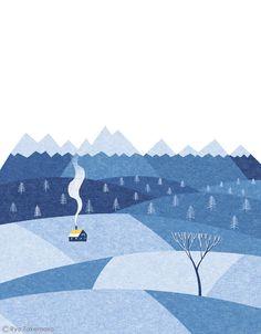 December illustration for Kenpo Magazine by Ryo Takemasa #illustration #flat…