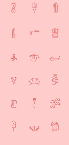 RNS Pictográfica Cocina on Behance in Icons, Symbols & Pictograms