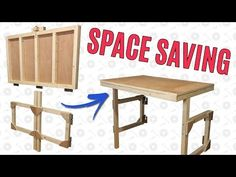I have a very small workshop. Something I'm lacking is both floor space and usable table space. So a fold down table should give me the best of both worlds. I have a...