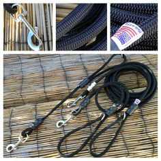Raven Dog Leash - Climbing Rope Design - Custom for Police K9 - by MyDogsCool.com