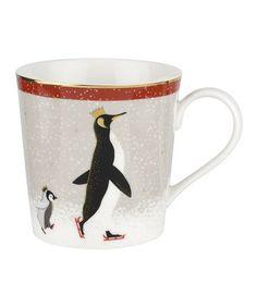 Sara Miller London For Portmeirion Christmas Penguin Red 12 oz Mug Coffee Mug Sets, Mugs Set, Coffee Cups, Tea Cups, Espresso Cups Set, Cappuccino Cups, Penguin Love, Christmas Mugs, Cupping Set