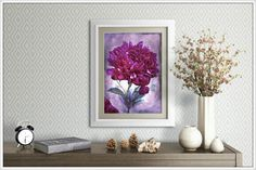 Purple Peony Flower Photography Prints 5x7 by MelissaReesePeterson