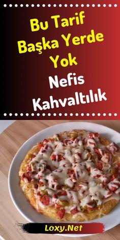 Biz Bu Kahvaltılık Tarifine Bayıldık – Salata meze kanepe tarifleri – Las recetas más prácticas y fáciles Turkish Breakfast, Turkish Kitchen, Pizza, Cheeseburger Chowder, Tart, Brunch, Food And Drink, Soup, Yummy Food