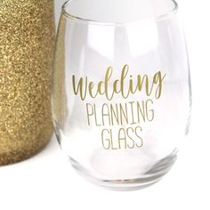 A wedding planning glass makes for a fabulous engagement gift for any newly engaged bride-to-be!