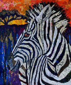 """20x24 Original Collage available as a Mural from Magic Murals.com  """"Seeing Stripes 2"""""""
