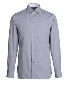 Exclusive long-sleeved shirt in pure cotton with microcheck pattern, model with inside collar and cuffs in contrast colour. http://store.zegna.com/item.asp?store=ermenegildozegna=38268181TE_id=19805