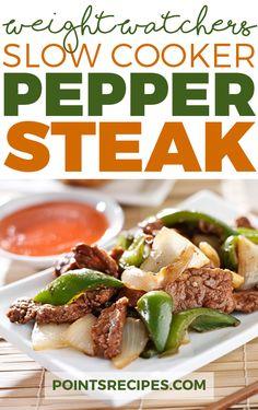Slow Cooker Pepper Steak (Weight Watchers SmartPoints)