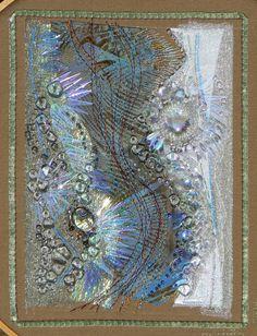 "Carol Walker, Puddle, 6.25x8.25"", 2009 #fiber art #embroidery"
