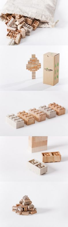 Wood Bricks - eco-friendly LEGO <3