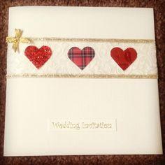 Christmas Scottish DIY wedding invitation