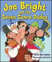 Joe Bright and the Seven Genre Dudes by Jackie Mims Beginning understanding of genres for reading workshop. Library Lesson Plans, Library Lessons, Reading Lessons, Reading Activities, Reading Skills, Library Ideas, Genre Lessons, Library Week, Library Skills