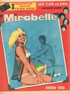 GCD :: Cover :: Mirabelle #21 August 1965 Price Page, 21st, Comics, Cover, Beach, Seaside, Comic Book, Comic Books