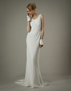 Designer Wedding Dresses and Gowns: Elizabeth Fillmore Slinky Wedding Dress, Wedding Dress 2013, Wedding Dress Gallery, Designer Wedding Dresses, Bridal Gowns, Wedding Gowns, 40s Wedding, Parisian Wedding, Dream Wedding